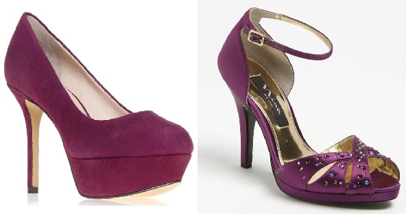 plum bridesmaid shoes