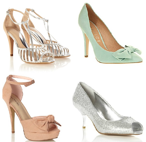 Pastel bridesmaid shoes