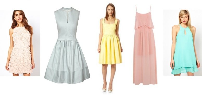 Spring Pastel Bridesmaid Dresses