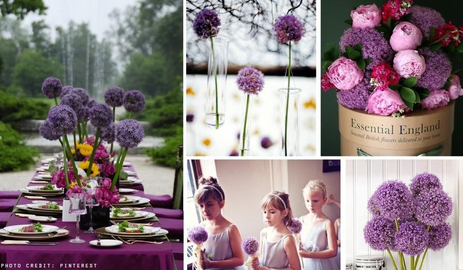 allium wedding flower ideas