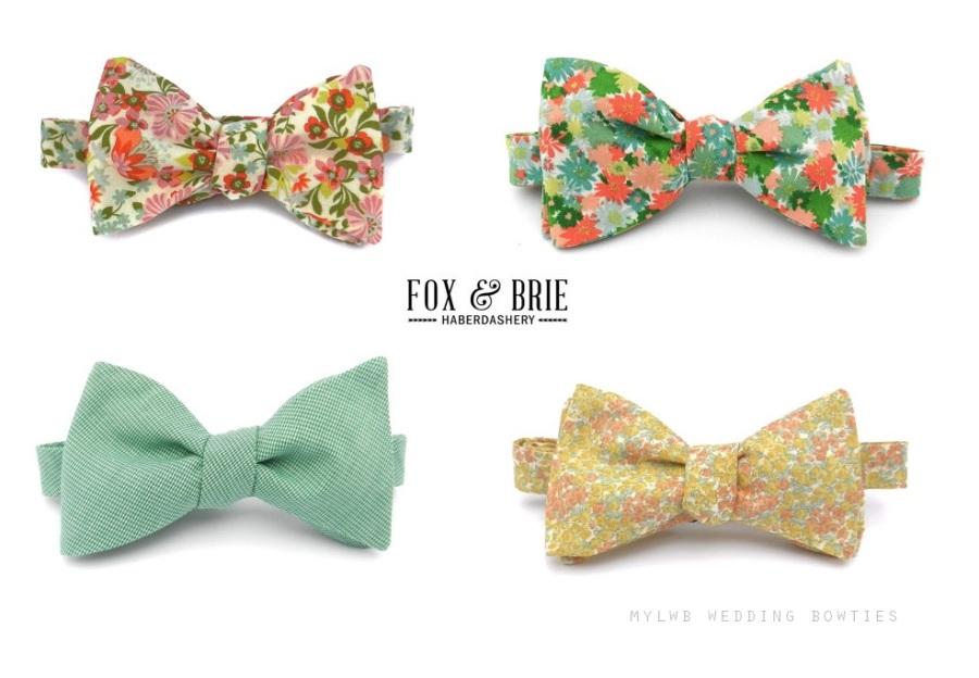 Fox & Brie Wedding Bow Ties