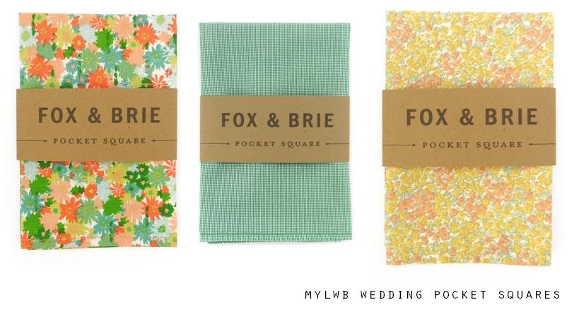 Fox & Brie Wedding Pocket Squares