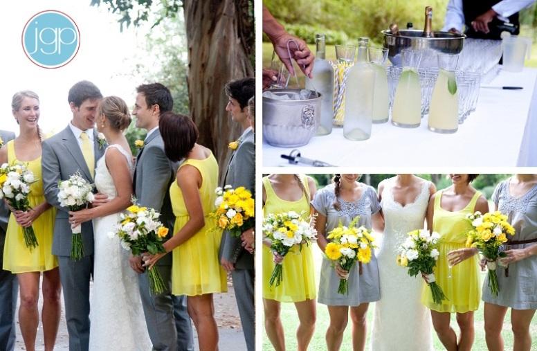 grey & yellow wedding theme