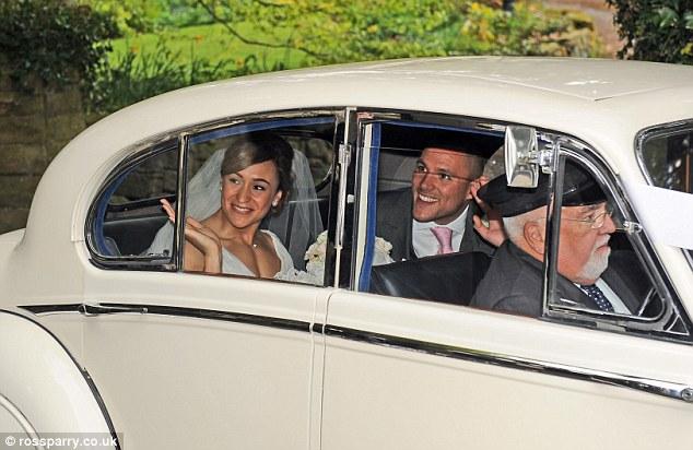 jessica ennis vintage wedding car