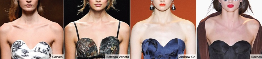 sweetheart necklines from the runway