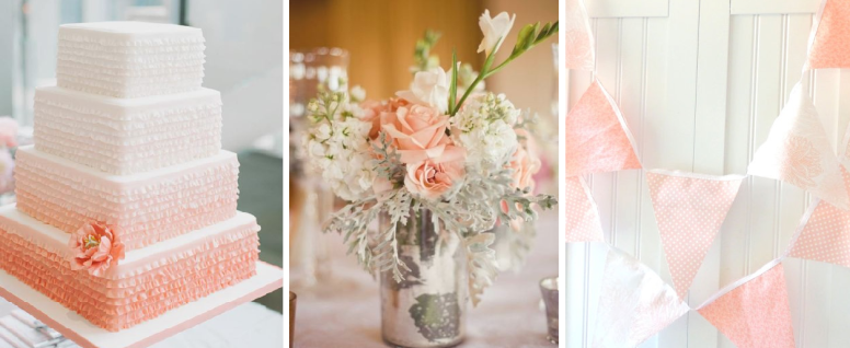 peach wedding colour scheme