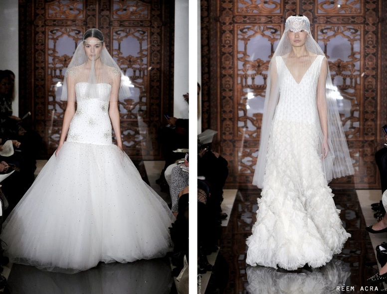 Reem Acra fall 14 bridal