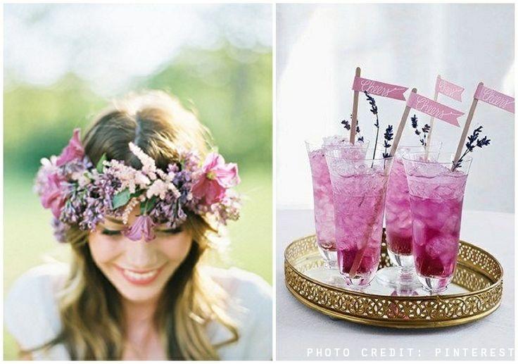 orchid wedding bride