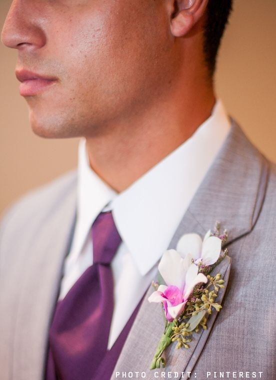 radiant orchid wedding theme groom