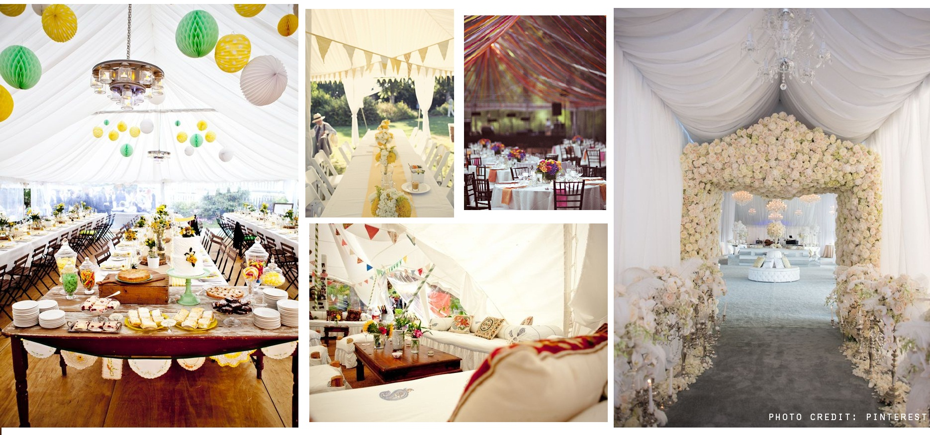 Let s talk wedding marquees my little wedding book for Indoor marquee decoration