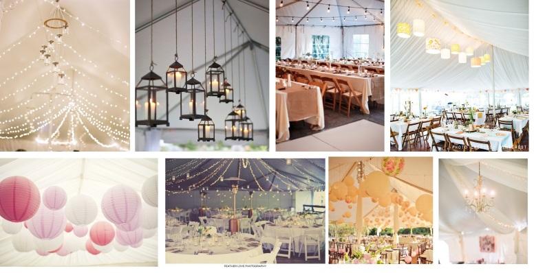 Wedding marquee lighting ideas