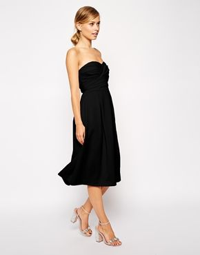 Bandeau Dress, Black & Nude, Asos £65