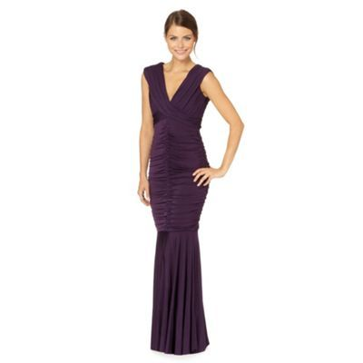 Purple Ruched Maxi Dress, Debenhams £90